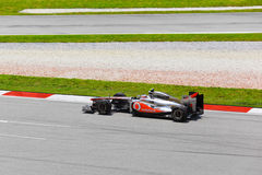Het team McLaren Mercedes van Jenson Button Royalty-vrije Stock Afbeelding