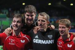 Het team Olympische Kampioen van Duitsland in Rio 2016 royalty-vrije stock fotografie