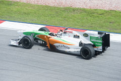 Het Team van Adrian Sutil Force India-Mercedes Formule 1 Royalty-vrije Stock Foto
