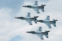 Het Team van Aerobatic van Thunderbirds Stock Afbeelding