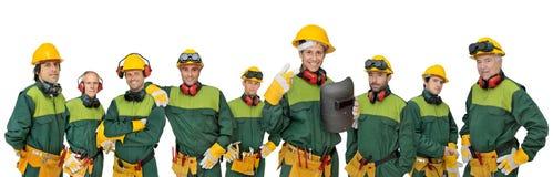 Het team van arbeiders Royalty-vrije Stock Foto's
