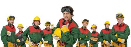 Het team van arbeiders Stock Afbeelding