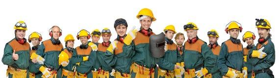 Het team van arbeiders Royalty-vrije Stock Afbeeldingen