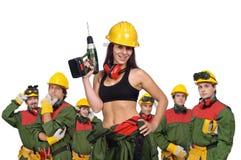 Het team van arbeiders royalty-vrije stock foto