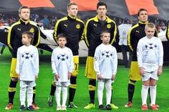 Het team van Borussia op het gebied Royalty-vrije Stock Afbeelding