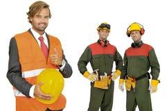 Het team van bouwers Stock Afbeelding