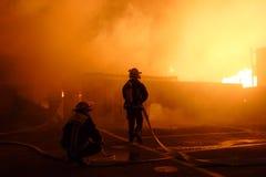 Het Team van brandbestrijders stock foto