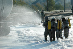 Het team van brandbestrijders Royalty-vrije Stock Afbeeldingen