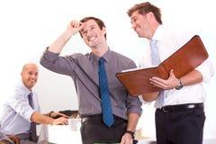 Het team van Bussiness op een vergadering Royalty-vrije Stock Afbeelding