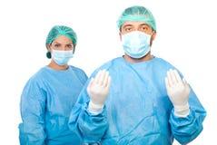 Het team van chirurgen Stock Afbeeldingen