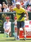 Het team van de AustralianDaviskop kapitein Llayton Hewitt tijdens Davis Cup v De V.S. Stock Foto