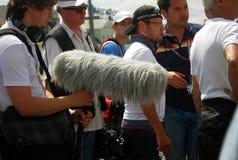 Het team van de bemanning bij het Rennen van de Stad van Moskou Royalty-vrije Stock Foto's