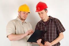 Het team van de bouw Stock Fotografie