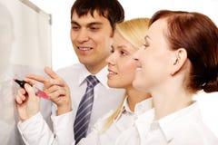 Het team van de brainstorming stock fotografie
