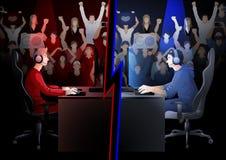 Het team van de Cybersport stock illustratie