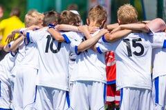 Het team van de de jeugdsport stock fotografie