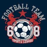 Het team van de de sportenliga van de voetbalvoetbal met eenhoorns stock illustratie