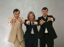 Het team van de hoofdjager stock foto