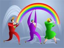 Het team van de regenboog royalty-vrije illustratie