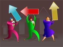 Het team van de richting stock illustratie