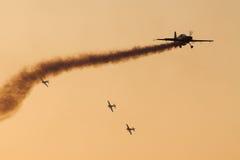 Het team van de Vertoning van Aerobatic van bladen Stock Afbeelding