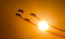 Het team van de Vertoning van Aerobatic van bladen Royalty-vrije Stock Afbeeldingen