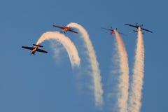 Het team van de Vertoning van Aerobatic van bladen Royalty-vrije Stock Fotografie