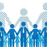 Het team van de vriendschap vector illustratie