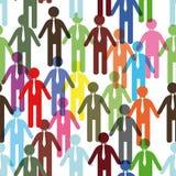 Het team van de vriendschap, menigte. stock illustratie