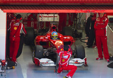 Het team van Ferrari F1 Royalty-vrije Stock Afbeelding