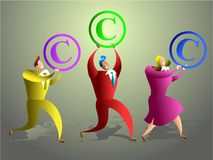 Het team van het auteursrecht Stock Foto