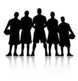 Het Team van het basketbal Stock Afbeeldingen
