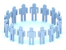 Het Team van het embleem van mensen royalty-vrije illustratie