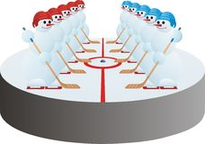 Het team van het hockey royalty-vrije illustratie