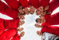 Het Team van het jonge geitjesvoetbal stock fotografie