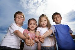 Het team van het kind Royalty-vrije Stock Afbeelding
