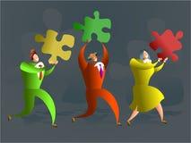 Het team van het raadsel stock illustratie