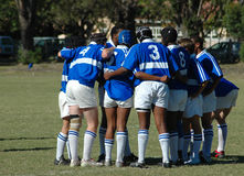 Het team van het rugby Stock Afbeelding