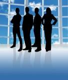 Het Team van het silhouet Stock Afbeelding