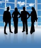 Het Team van het silhouet Stock Afbeeldingen