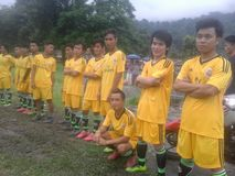Het team van het voetbal Stock Afbeeldingen