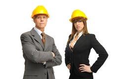 Het team van ingenieurs Stock Afbeeldingen