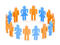 Het team van Logotype Stock Foto's