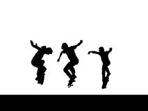 Het team van schaatsers Royalty-vrije Stock Foto's