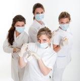Het team van tandartsen stock fotografie