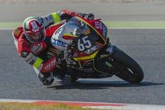 Het Team van TCXB & Enervats- 24 uren van Catalunya-Motorrijden bij Kring van Catalonië Stock Foto's
