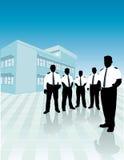 Het team van veiligheidsagenten Stock Afbeeldingen
