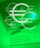 Het team werkt Euro stock illustratie