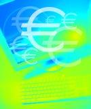 Het team werkt Euro vector illustratie