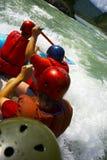 Het teamclose-up van Rafting Stock Afbeeldingen